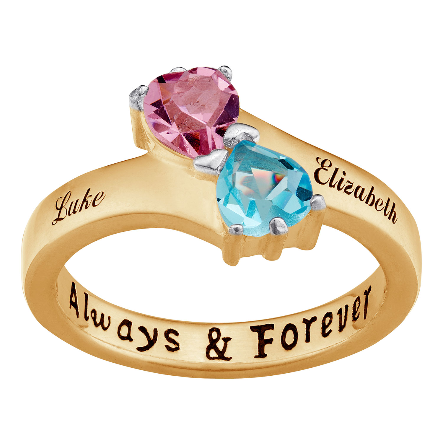 Couple Rings: Birthstone Rings, Name Rings, Personalized ...