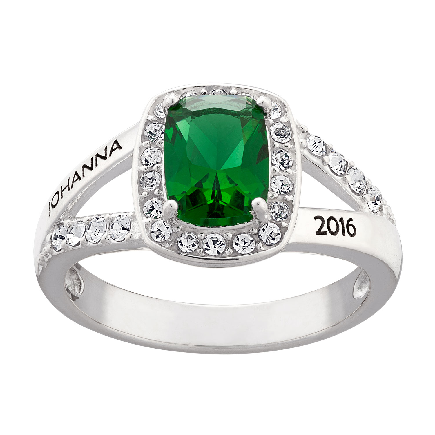 Sterling Silver Freestyle Class Birthstone Ring 41641