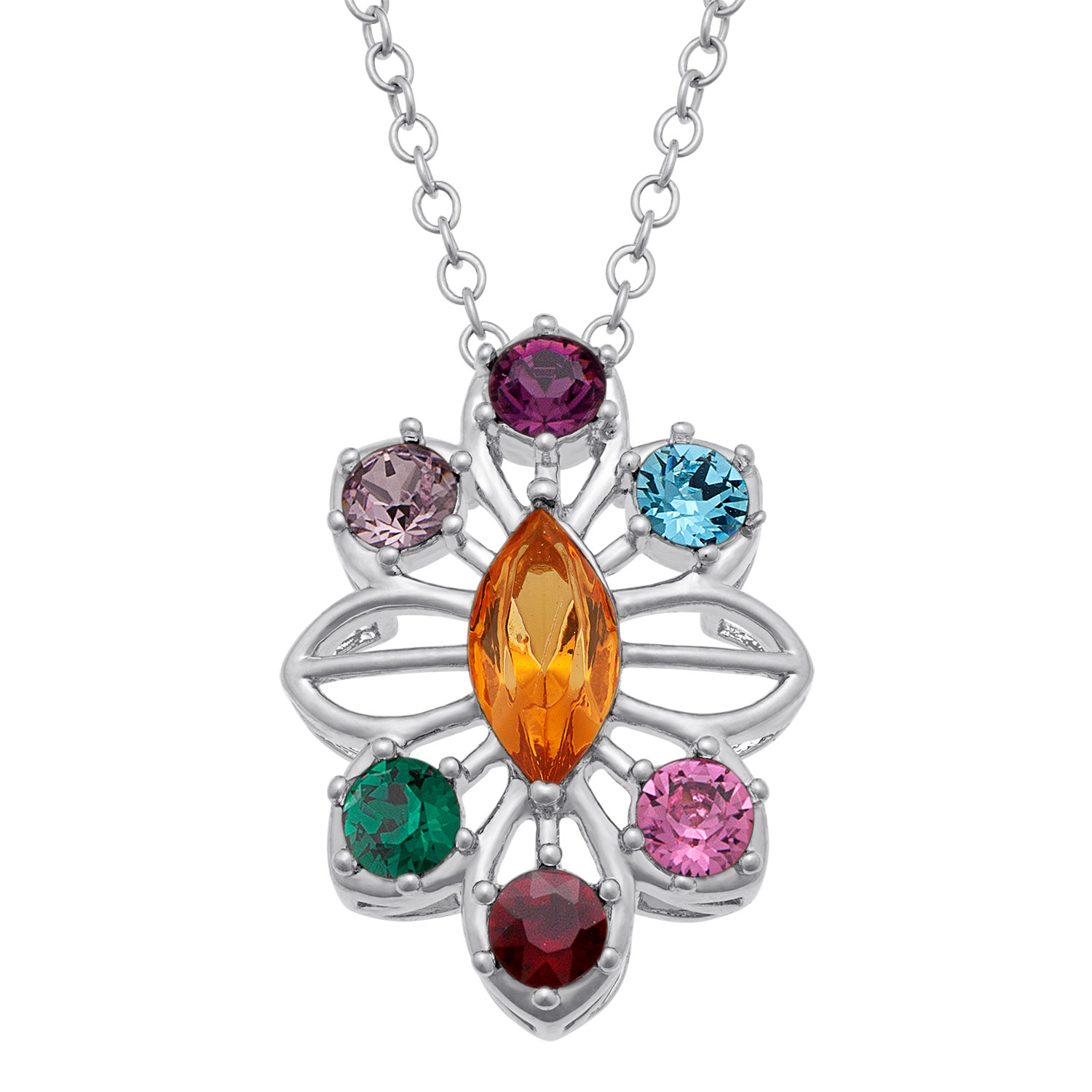 birthstone jewelry for s family birthstone snowflake pendant 41777 5573