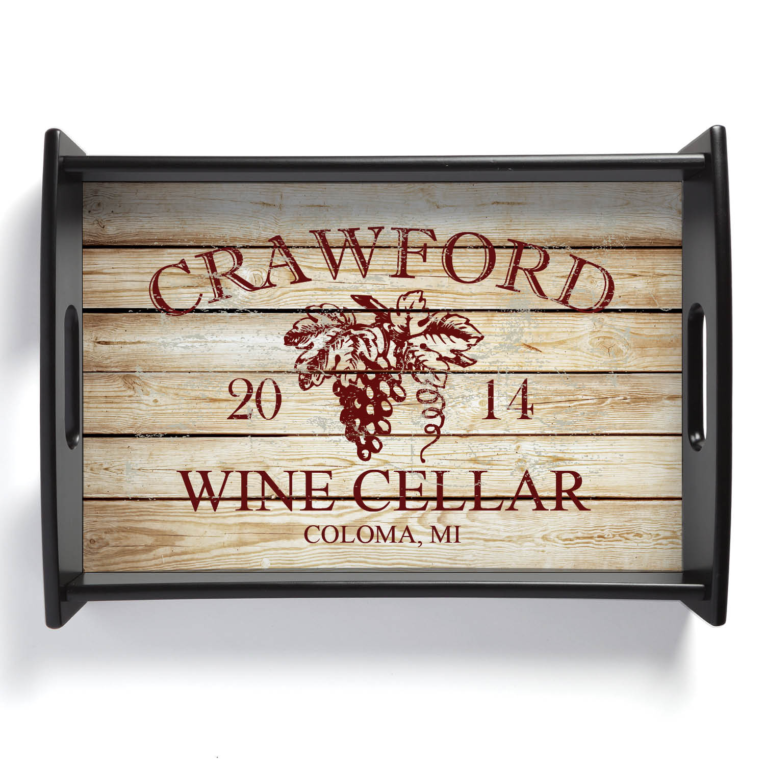 Wine Lovers Personalized Serving Tray