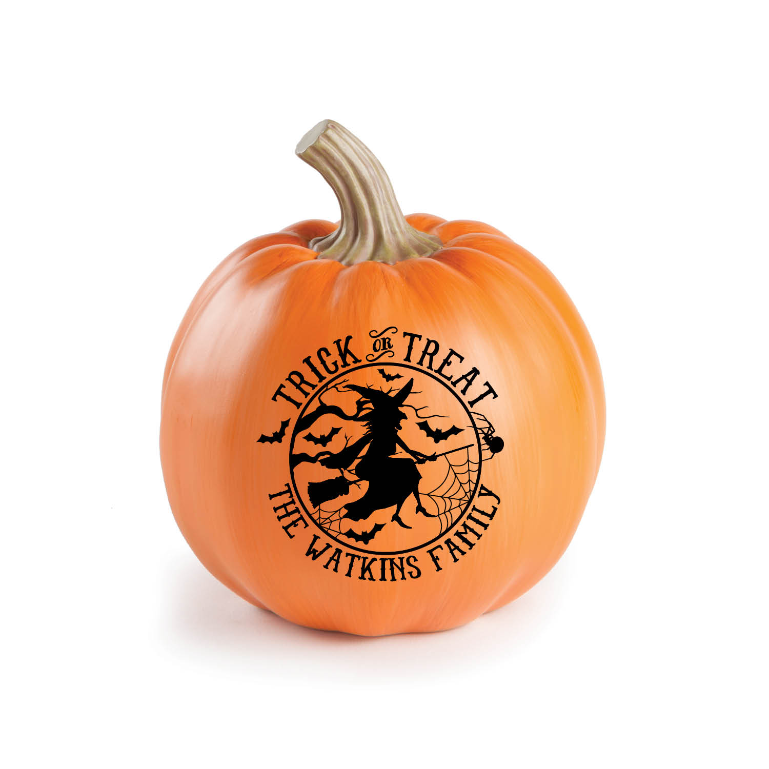 Image Trick Or Treat Personalized Pumpkin---Small